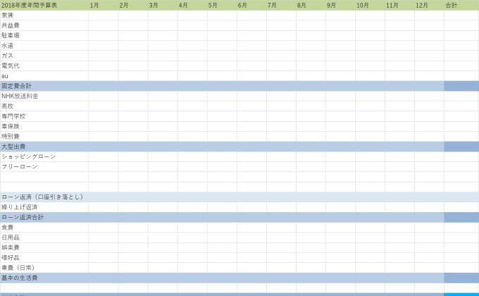Excel家計簿
